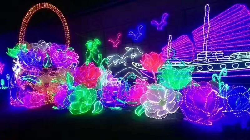 专业生产梦幻灯光节灯饰led造型灯景观灯街道灯路灯杆灯图案灯