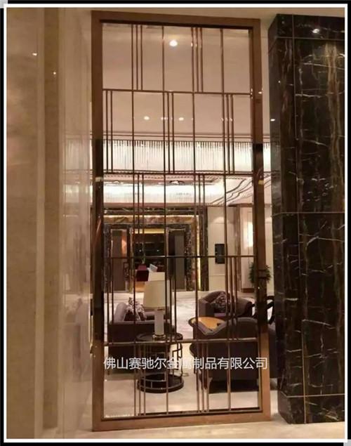 酒店装饰新中式不锈钢屏风 简约时尚隔断花格